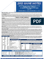 Bluefield Blue Jays Game Notes 7-26