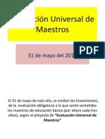 Diapositivas Evaluacion Universal