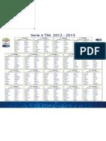 Calendario Serie a Tim 2012-2013
