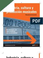 Industria, Cultura y Producción Musicales - Manuales de Formación - Fascículo  1