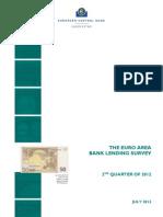 Euro Area Bank Survey July2012