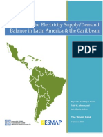 World Bank, Meeting the Balance of Electricity Supply and Demand in Latin America and the Caribbean, 2011