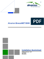 BNB 300 Installation Quicksheet