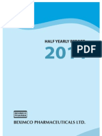 Bxpharma Q2 FY2011 Financial Results