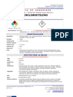 MSDS-PERCLOROETILENO