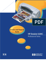 Service Manual hp DeskJet 1220C