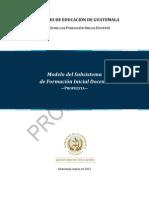 Propuesta de modelo del subsistema de FID versión final
