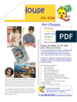ART CLASSES AT ART HOUSE FOR KIDS IN MISSISSAUGA