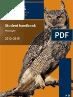 Philosophy Handbook Interactive 2012 13