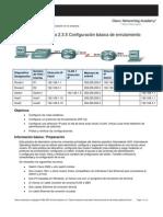Configuración básica de enrutamiento y conmutacion