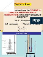 Charles's Law + pressure law