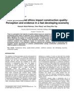How professional ethics impact construction quality - Abdul-Rahman Et Al