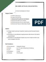 Prosedur 9 Mengambil Sampel Air Telaga ( Analisa Bakteria)
