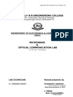 Microwave Lab Manual | Optical Fiber | Amplitude