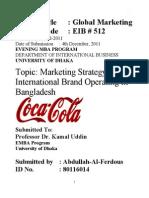 COCA -Cola Strategy
