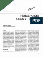 JOSEP ROCA Percepción, Usos y Teorías