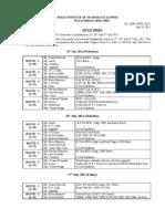 Duty Chart 2012