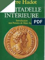 Pierre Hadot La citadelle intérieure. Introduction aux Pensées de Marc Aurèle    1997