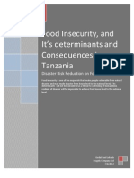 Food Insecurity, And Its Determinants and the Consequences in Tanzania