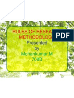 Rules of Research Methodology