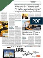 laRepubblica 27.7.12 - Comune, arriva l'allarme stipendi