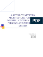 A SATELLITE NETWORK ARCHITECTURE FOR A MEO CONSTELLATION IN A GLOBAL PERSONAL COMMUNICATION SYSTEM