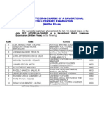 Top 10 July 2012 Marine Deck Licensure Examination (O.I.C. – N.W.)
