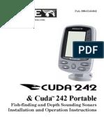 Eagle CUDA242 Sonar Fishfinder User Manual