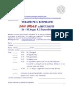 DAN BRULE Workshop August 2012 - Formular de Inscriere