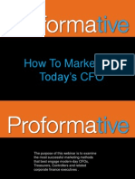How to Market to Todays C-Level Corporate Finance Executives