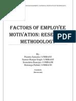 Factors of Employee Motivatio1