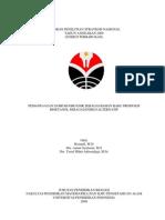 Laporan Penelitian Strategis Nasional Tahun Anggaran 2009 - Pemanfaatan Sampah Organik Sebagai Bahan Baku Produksi Bioetanol Sebagai Alternatif Energi
