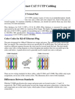 Ethernet CAT 5 UTP Cabling