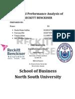 Financial Performance Analysis Of Reckitt Benckiser