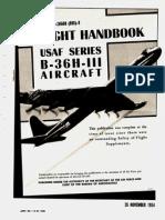 70709709 1954 T O 1B 36H III 1 Flight Handbook USAF Series B 36H III Aircraft Pt 1