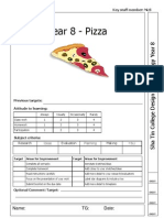 Year 8 Unit 1 Pizza Booklet