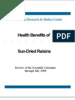 Raisins and Health 200810