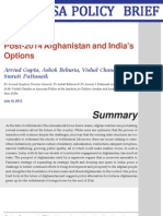 Post-2014 Afghanistan and India's Options