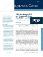 Widening Gaps in U.S. and European Defense Capabilities and Cooperation