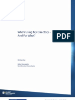 Who's Using My Directory – And For What