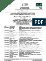 CIEF Programa de Seminários de Pesquisa 2012-I