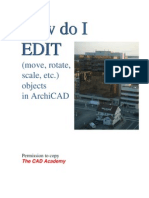 How Do i Edit Archicad