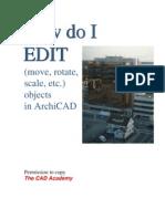 How Do i Edit Archicad