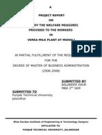 Verka Milkk Plant Employee Welfare Project