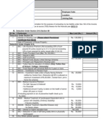 Income Tax Declaration Form 2012-13