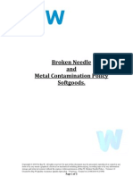 Broken Needle and Metal Contamination Policy Soft Goods Dr A