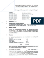 AOF Devon & Cornwall Committee Minutes 7th May 2011