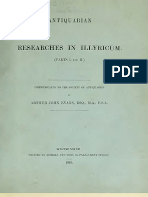 Antiquarian Researches in Illyricum, I-IV - Sir Arthur John