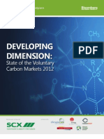 State of the Voluntary Carbon Market 2012