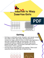 warp insertion knits